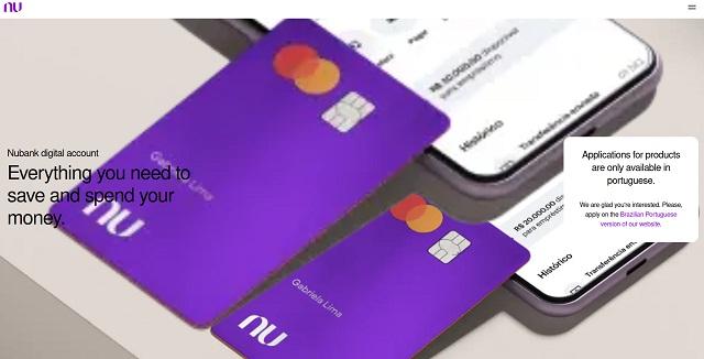 Digitales Konto der brasilianischen Nubank