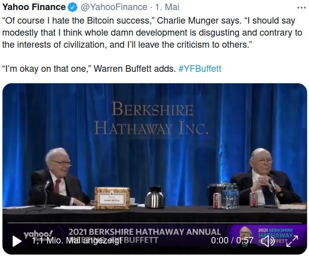 Warren Buffett zum Bitcoin